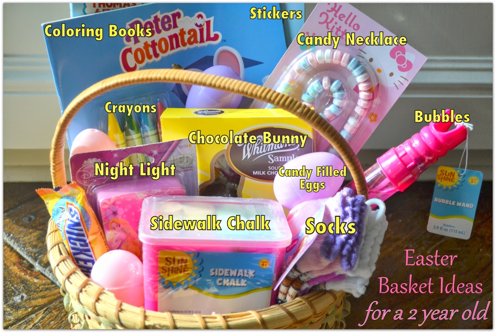 Easter Basket Ideas For A Two Year Old Logic And Laughter